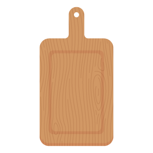 cutting board---instruments-in-english---english-for-kids