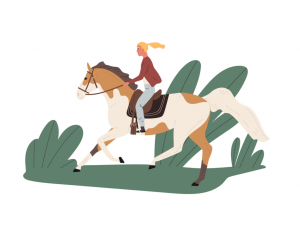 cross country equestrian - names of sports - english for kids - lingokids