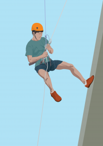 abseiling- names of sports - english for kids - lingokids