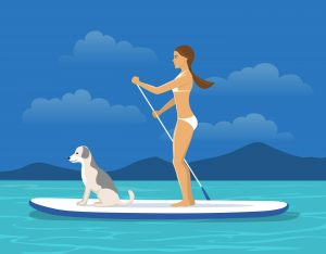 paddle boarding - names of sports - english for kids - lingokids