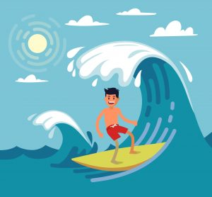 surfing - names of sports - english for kids - lingokids