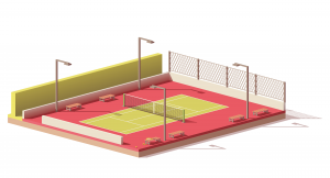 court - names of sports - english for kids - lingokids