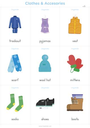 Clothes cards