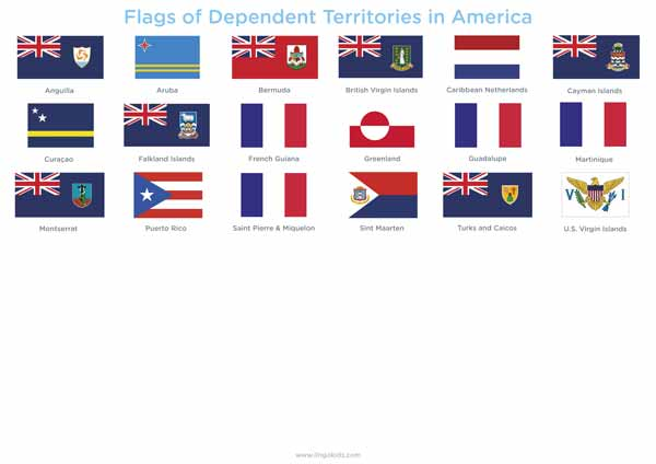 Flags of Dependent Territories in America
