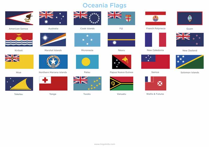 Oceania Flags
