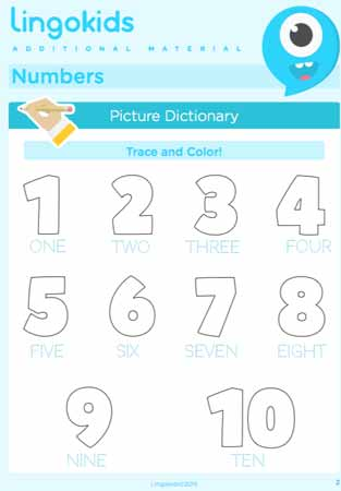 Numbers printable activities 1