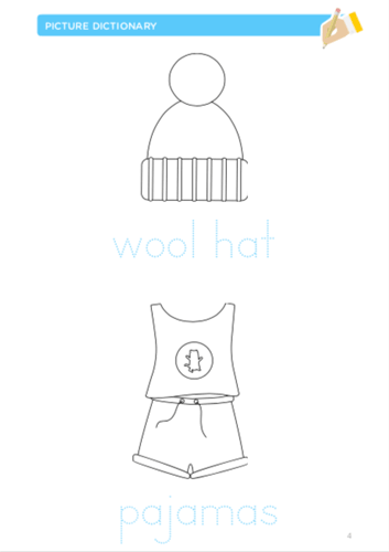 Coloring pages to learn about clothing