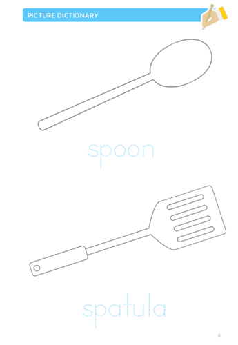 Kitchenware printable activities