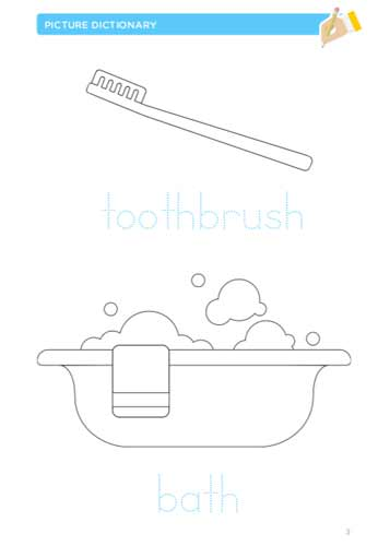 Printable exercises about bathroom vocabulary