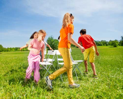 Musical Chairs - Activities to learn about musical instruments