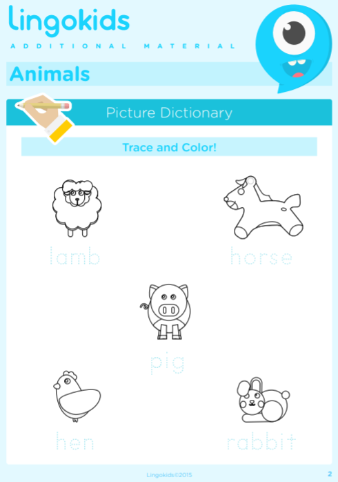 Farm animals printable 1