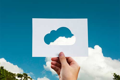 Clouds with shapes - Activities to learn shapes