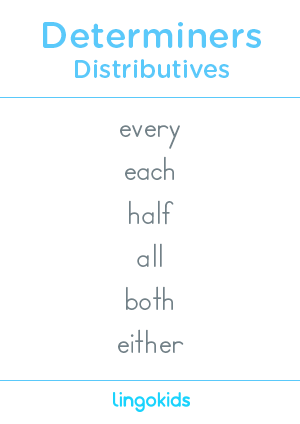 Distributives - Determiners in English
