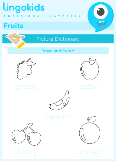 Fruits printable activities