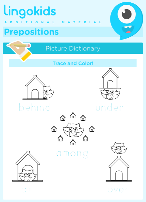 Prepositions: behind – under – among – at – over