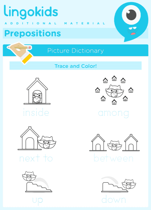 Prepositions: in – inside – among – next to – between – up - down