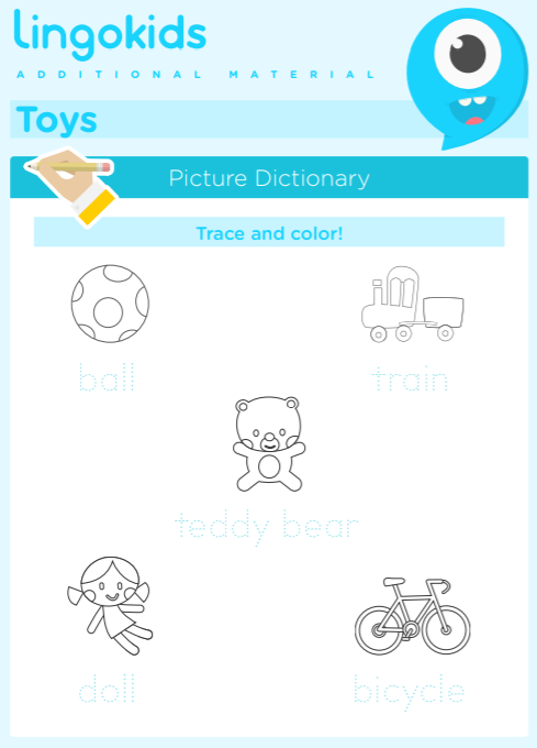 Printable activities about toys