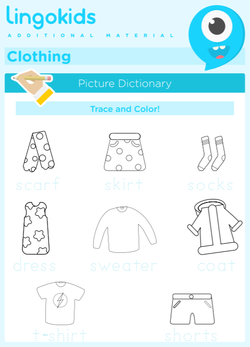 Clothing Printable Activities