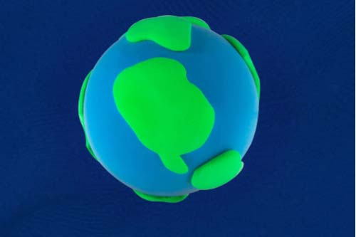 Make a play dough planet