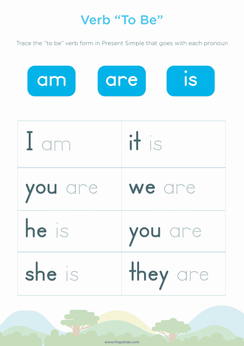 Printable worksheets about the verb to be 1