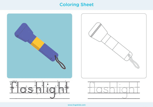 Flashlight - Camping Coloring Pages