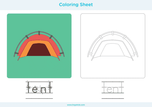 Tent - Camping Coloring Pages