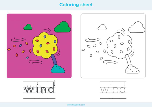 Wind - Coloring sheets