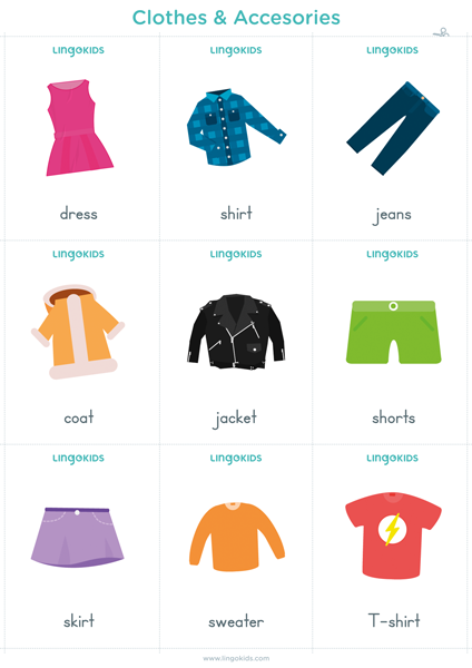 Flashcards: Clothes & Accesories