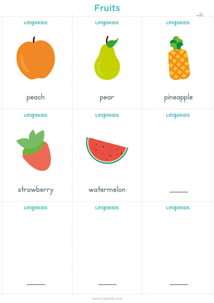 Flashcards: Fruits