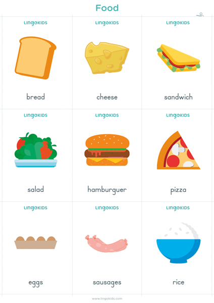 Flashcards: Food