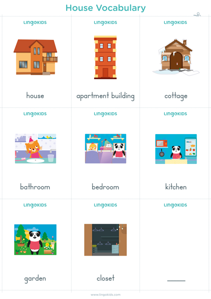 Flashcards: House Vocabulary