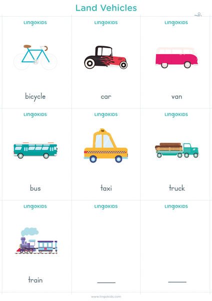 Flashcards: Land Vehicles