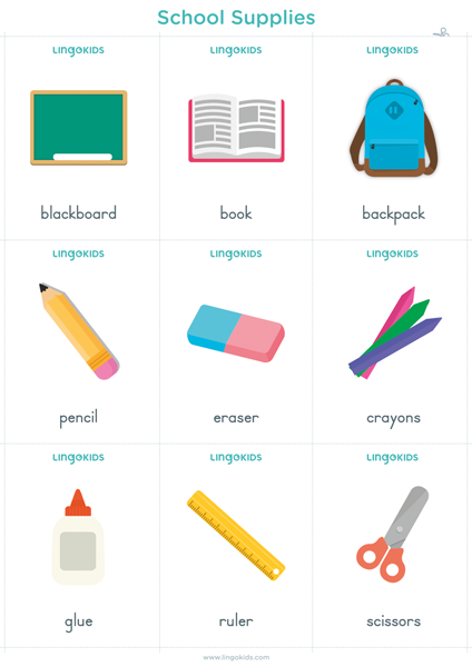 Flashcards: School Supplies
