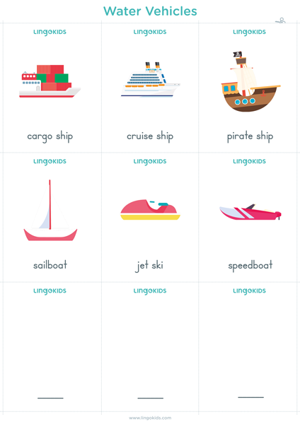 Flashcards: Water Vehicles