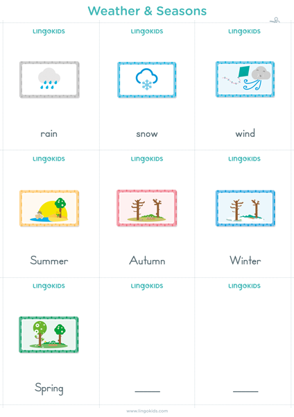 Flashcards: Weather & Seasons